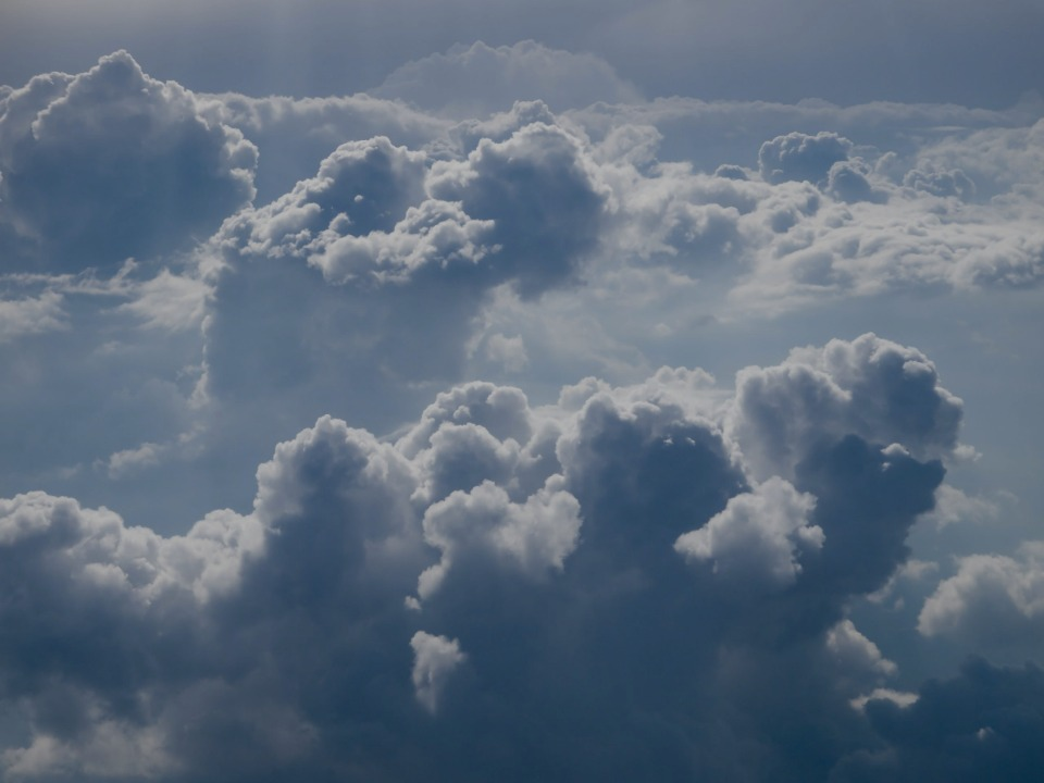 aerial photography of clouds